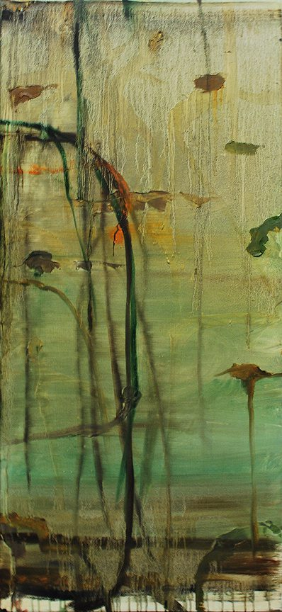 Pond, 1993 Oil on canvas 50 x 24 inches (127 x 61 cm)
