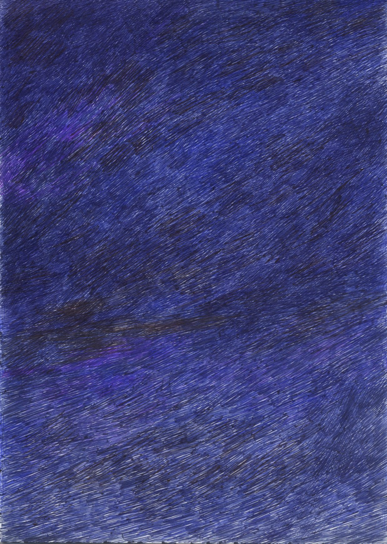 Untitled (Senza titolo), 2013, Ballpoint pen on paper, 11-1/2 x 8-1/4 inches