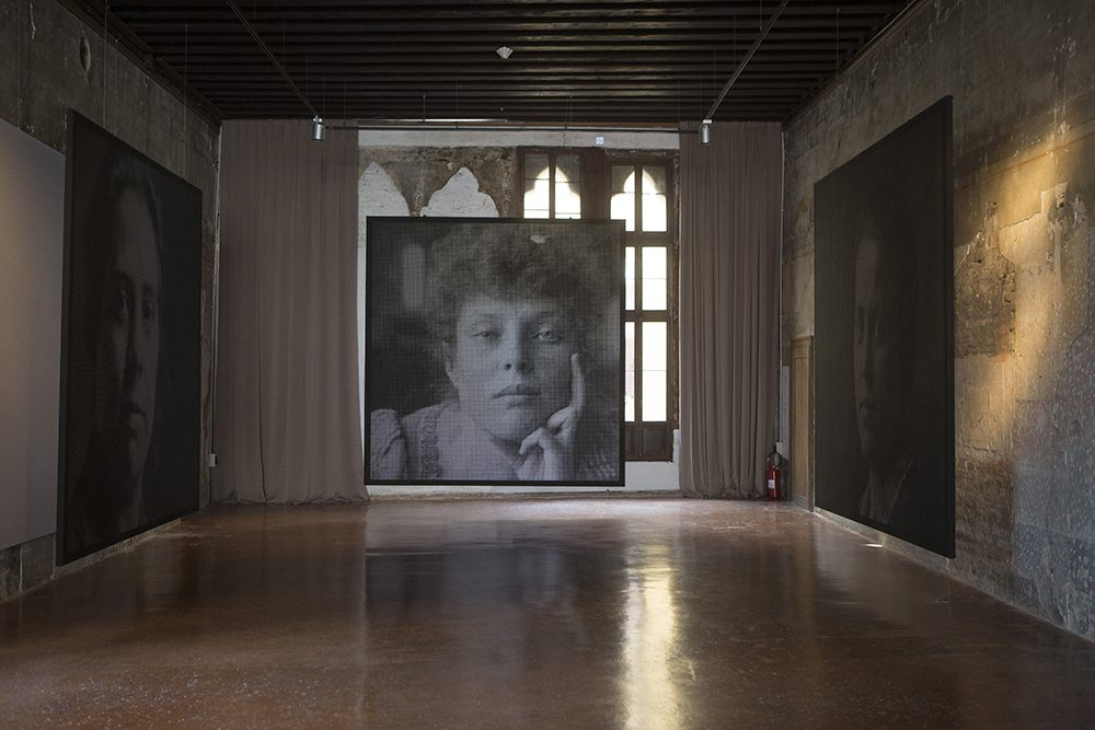 Crystal Images V (Archivo Fortuny c. 1895), 2013, Painted and perforated canvas, 130 x 126 inches (330 x 320 cm)