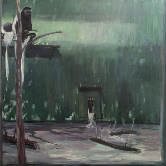 Cage at Stoneham 23, 1977, Oil on canvas, 66 x 66 inches (167.64 x 167.64 cm)