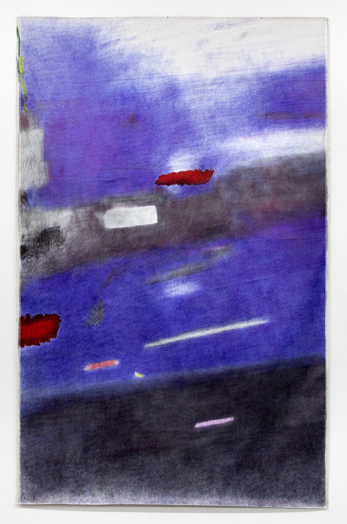 Untitled (Senza Titolo), 2015, Ballpoint pen, oil, and marker on canvas, 98 x 63 inches (248.92 x 160.02 cm)