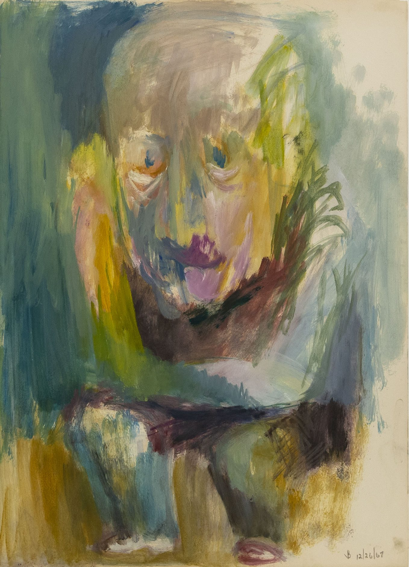Little Men #92, 1967, Acrylic on paper, 23 3/4 x 17 1/8 inches (60.3 x 43.5 cm)